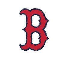 """Crystallized Red Sox """"B"""" by tdgilway19"""