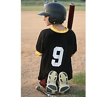 Boy Waiting To Bat Photographic Print