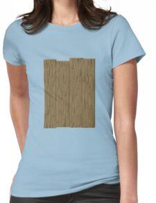 Glitch Abbasid Land fence wood 1 Womens Fitted T-Shirt