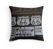 Route 66 signs Throw Pillow
