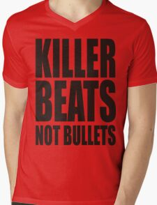 KILLER BEATS NO BULLETS Mens V-Neck T-Shirt