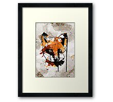 Geometric Watercolor Fox Framed Print