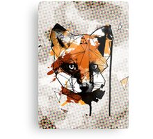 Geometric Watercolor Fox Metal Print