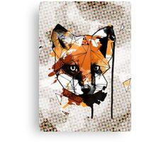 Geometric Watercolor Fox Canvas Print