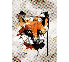Geometric Watercolor Fox Photographic Print