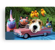 Manny's Pink Safari-mobile Canvas Print