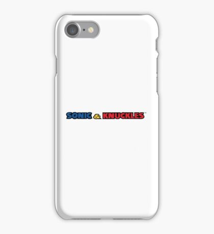 Sonic & Knuckles Logo 2 iPhone Case/Skin