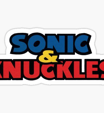 Sonic and Knuckles Logo 3 Sticker