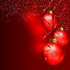 Red Christmas Background by Corina Daniela Obertas