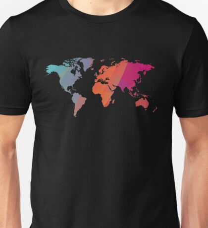 Colorist map of the world Unisex T-Shirt