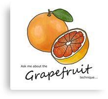 The Grapefruit Technique Canvas Print