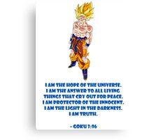 Goku 3:96 Canvas Print