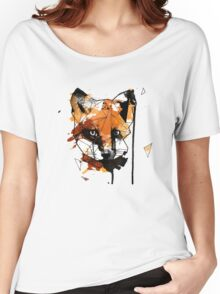 Geometric Watercolor Fox Women's Relaxed Fit T-Shirt