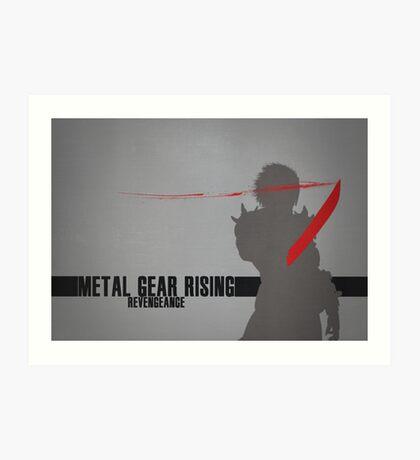 Metal Gear Rising - Revengeance - Raiden Art Print