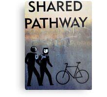 shared pathway Metal Print