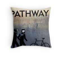shared pathway Throw Pillow