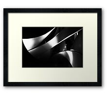 Black into white into grey Framed Print