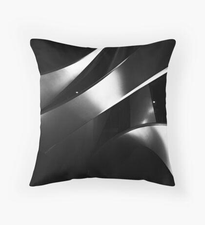 Black into white into grey Throw Pillow