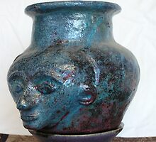 hand built, raku jar by fatman