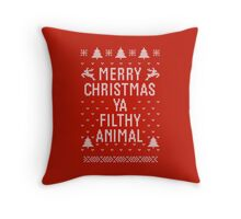Home Alone Filthy Animal Ugly Sweater Throw Pillow