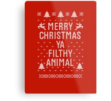 Home Alone Filthy Animal Ugly Sweater Metal Print