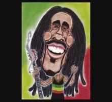 Reggae Rasta Jamaican Caricature Drawing by MMPhotographyUK