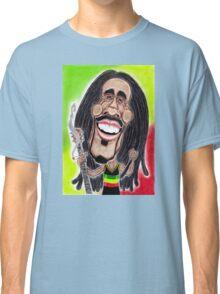 Reggae Rasta Jamaican Caricature Drawing Classic T-Shirt
