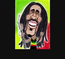 Reggae Rasta Jamaican Caricature Drawing Unisex T-Shirt