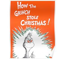 How the Grinch Stole Christmas Book Cover Poster