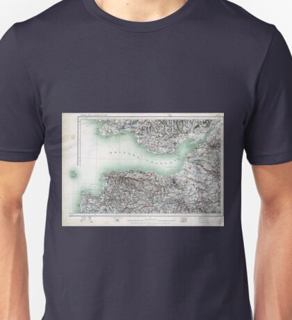 Vintage Map Bristol Channel England and Wales Unisex T-Shirt