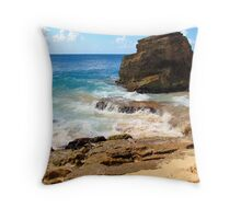 Cupecoy Beach, Saint Martin Throw Pillow