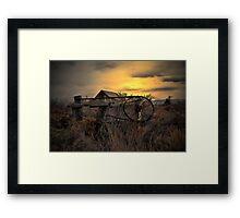 The Old Gate ~ Summer Lake Barn ~ Framed Print