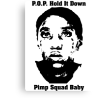 Pimp Squad Baby Canvas Print
