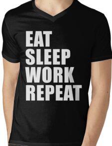 Eat Sleep Work Repeat Sport Shirt Funny Cute Gift For Factory Worker Pro Wrestler Workrate Mens V-Neck T-Shirt