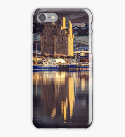 Frosty Morning Reflections Of Scalloway Waterfront iPhone Case/Skin