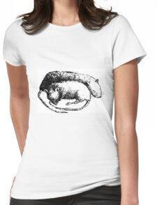 Sleeping mice Womens Fitted T-Shirt