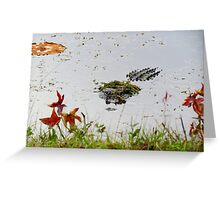 """Big Gator"" Greeting Card"