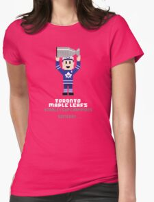 8-Bit Leafs Womens Fitted T-Shirt