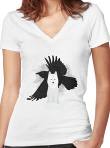 Ghost the Crow Women's Fitted V-Neck T-Shirt