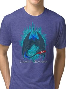 Game of Dragons - HTTYD2/GoT (With Text) Tri-blend T-Shirt