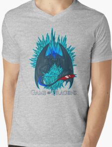 Game of Dragons - HTTYD2/GoT (With Text) Mens V-Neck T-Shirt