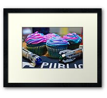 Timey Wimey Cupcakes Framed Print