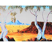 Twin Ghostgums Photographic Print
