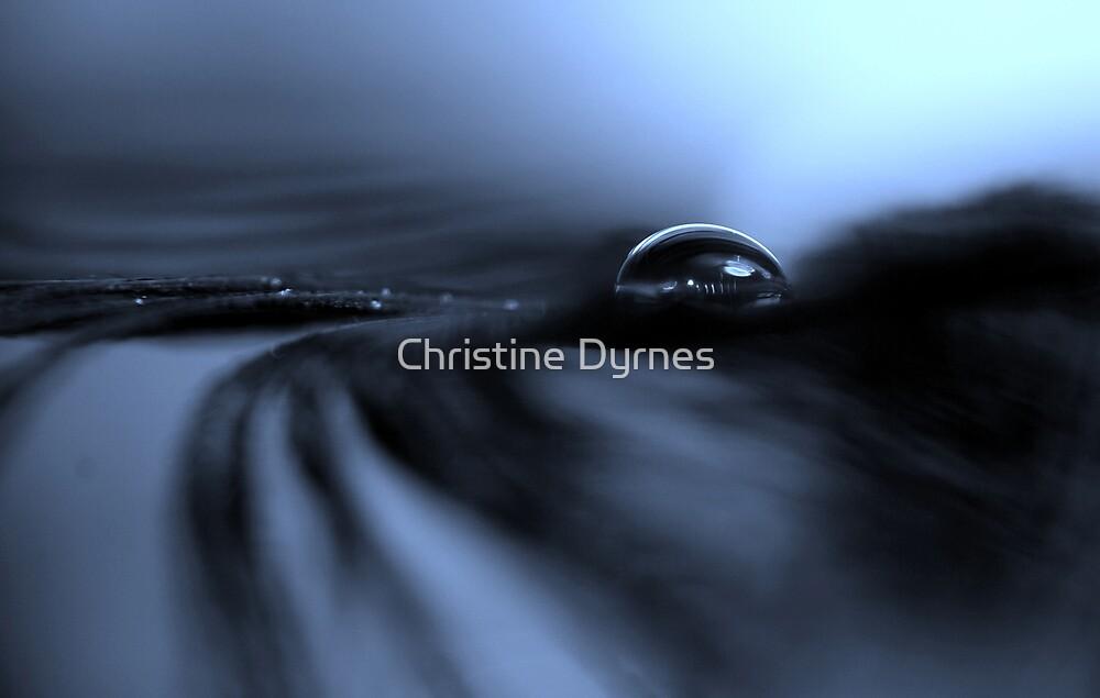 Blue Drop Landscape by Christine Dyrnes