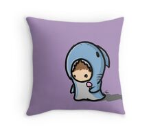 sharksuit chibi Throw Pillow