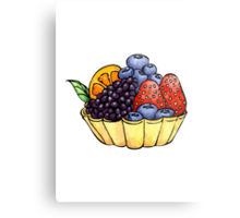 Fruit and Berry Dessert Cup Metal Print