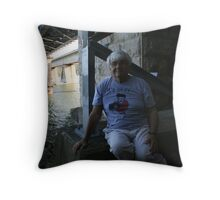 Down By The Riverside.  Throw Pillow