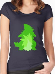 Tyranitar Evolutionary Line Women's Fitted Scoop T-Shirt