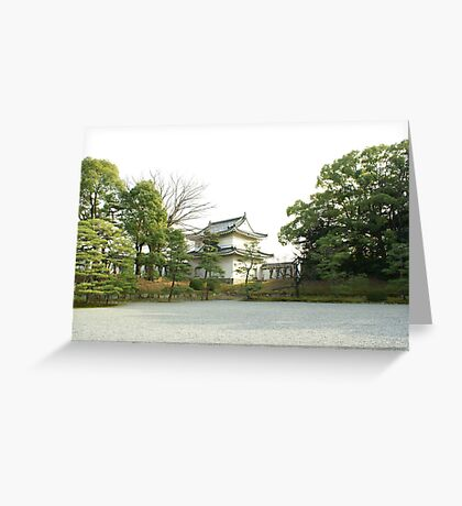 A Japanese White Temple 1 Greeting Card