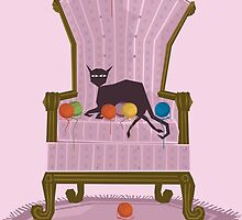 Seated Cat by NANOSTUFF
